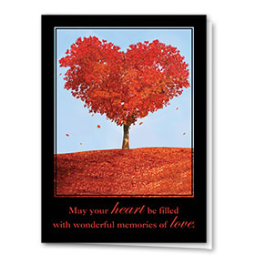 Full-Color Medical Sympathy Cards - Leaves of Friendship