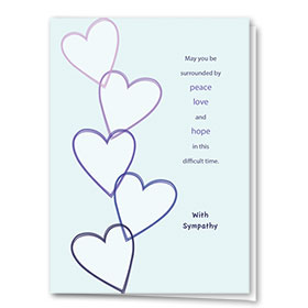 Full-Color Medical Sympathy Cards - Peace & Love