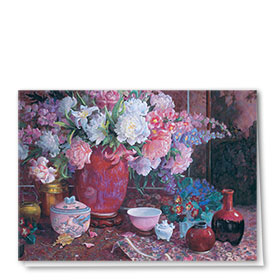 Full-Color Multi-Use Medical Greeting Cards - Flowers