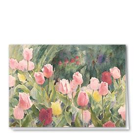 Full Color Multi Use Card-Tulip Garden