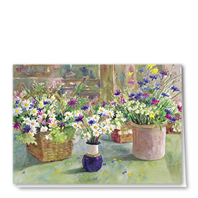 Full-Color Multi-Use Medical Greeting Cards - Daisies