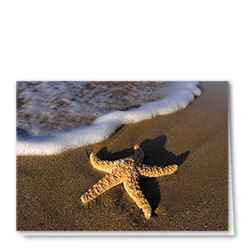 Full-Color Multi-Use Medical Greeting Cards - Starfish