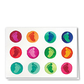 Full-Color Multi-Use Medical Greeting Cards - Bright Feet