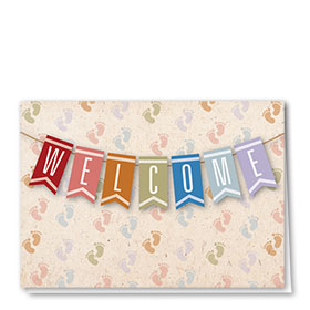 Full Color Welcome Card-Baby Note