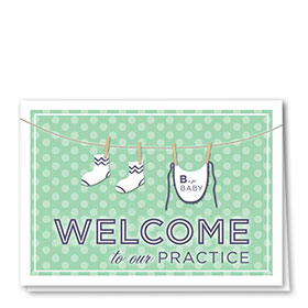 Full Color Welcome Card-Clothesline