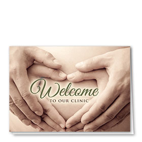 Full-Color Medical Welcome Cards - Trusting Hands