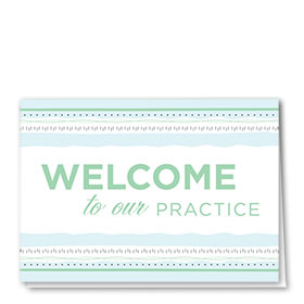 Full-Color Medical Welcome Cards - Soothing Welcome