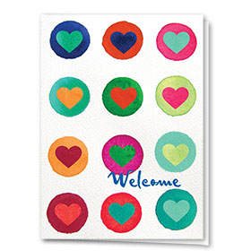 Full-Color Medical Welcome Cards - A Bright Welcome