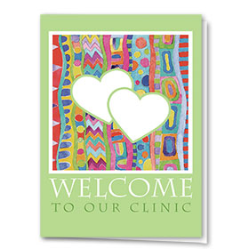 Full-Color Medical Welcome Cards - Painterly Hearts