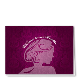 Full-Color Medical Welcome Cards - Fuschia Welcome