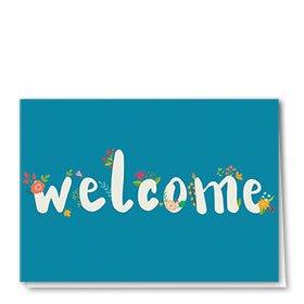 Full-Color Medical Welcome Cards - Blooming Welcome