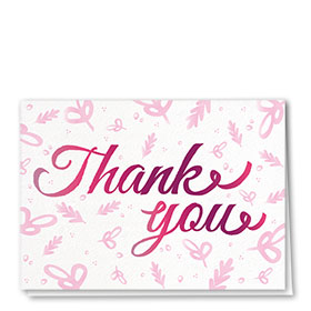 Full Color Thank You Card-Signature Thank You