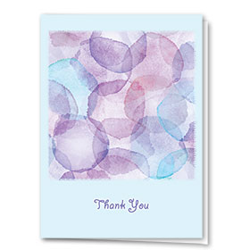 Full Color Thank You Card-Azure Thank You