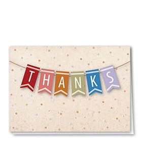 Full Color Thank You Card-Grateful Banner