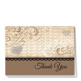 Full Color Thank You Card-Loyal Swirls