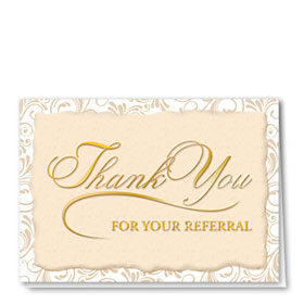 Full Color Thank You Card-Golden Thank You