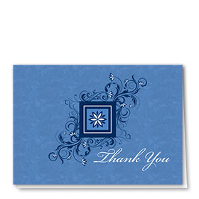 Full Color Thank You Card-Blossoming Thanks