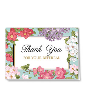 Full-Color Medical Thank You Cards - Floral Referral
