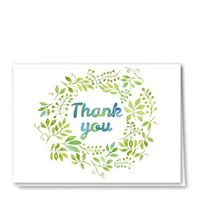 Full-Color Medical Thank You Cards - Spring Green