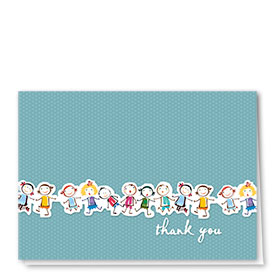 Full-Color Medical Thank You Cards - Kids Lineup