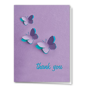 Full-Color Medical Thank You Cards - Butterflies