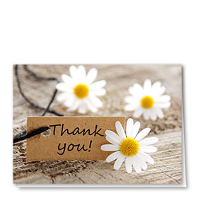 Full-Color Medical Thank You Cards - Daisy