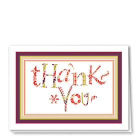 Full-Color Medical Thank You Cards - Plum Print