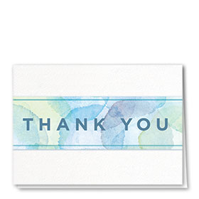 Full-Color Medical Thank You Cards - Watercolor