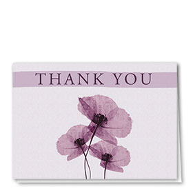 Full-Color Medical Thank You Cards - Purple Flowers