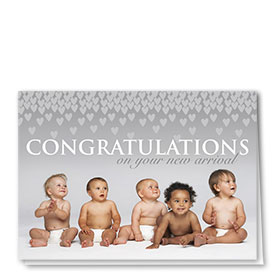 Full Color Congratulations Card-Showering of Love