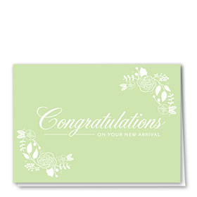 Full Color Congratulations Card-Delicate Arrival