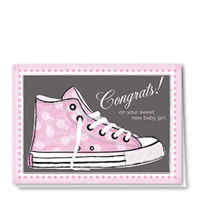 Full Color Congratulations Card-High Top Girl