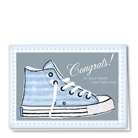 Full Color Congratulations Card-High Top Boy