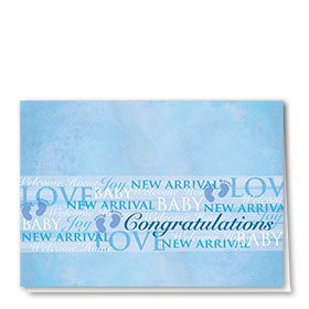 Full Color Congratulations Card-Words of Joy