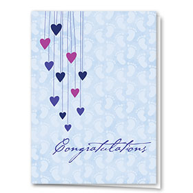 Full Color Congratulations Card-Loving Hearts
