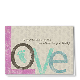 Full Color Congratulations Card-A Tender Congrats