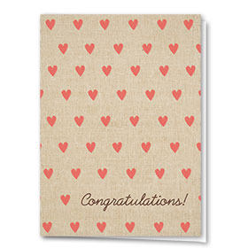 Full Color Congratulations Card-Hearts of Affection