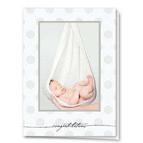 Full-Color Medical Congratulations Cards - Cozy Baby Congrats
