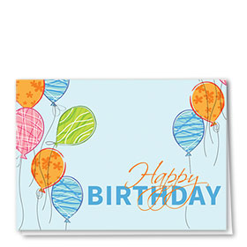 Full-Color Medical Birthday Cards - Birthday Balloons