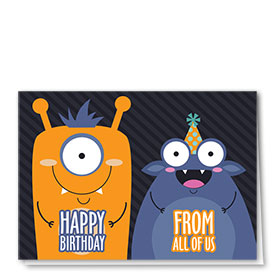 Full-Color Medical Birthday Cards - Monster Birthday