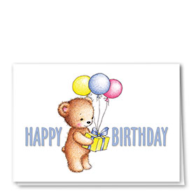 Full-Color Medical Birthday Cards - Birthday Bear