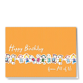 Full-Color Medical Birthday Cards - Birthday Line Up
