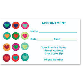 Medical Appointment Cards - Bright Hearts