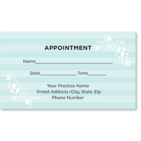 Medical Appointment Cards - Soft Stripes