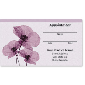 Medical Appointment Cards - Purple Poppies