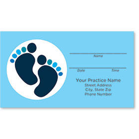 Medical Appointment Cards - Two-Tone Toes