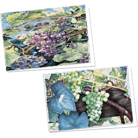 Full-Color Appointment Card Assortment-Cabernet & White Grapes