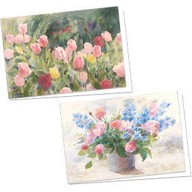 Full-Color Medical Appointment Cards Assortment - Tulip & Delphinium
