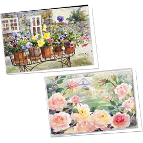 Full-Color Medical Appointment Cards Assortment - Roses & Pansies