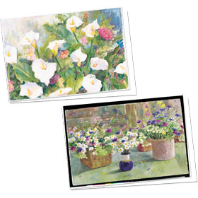 Full-Color Medical Appointment Card Assortment - Lilies & Daisies
